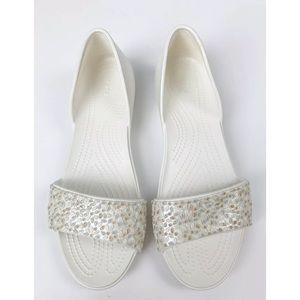 Crocs Lina Embellished Dorsay Flats 9 Slip Open